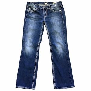 SILVER JEANS   Lola 17 Straight Thick Stitch 31x29